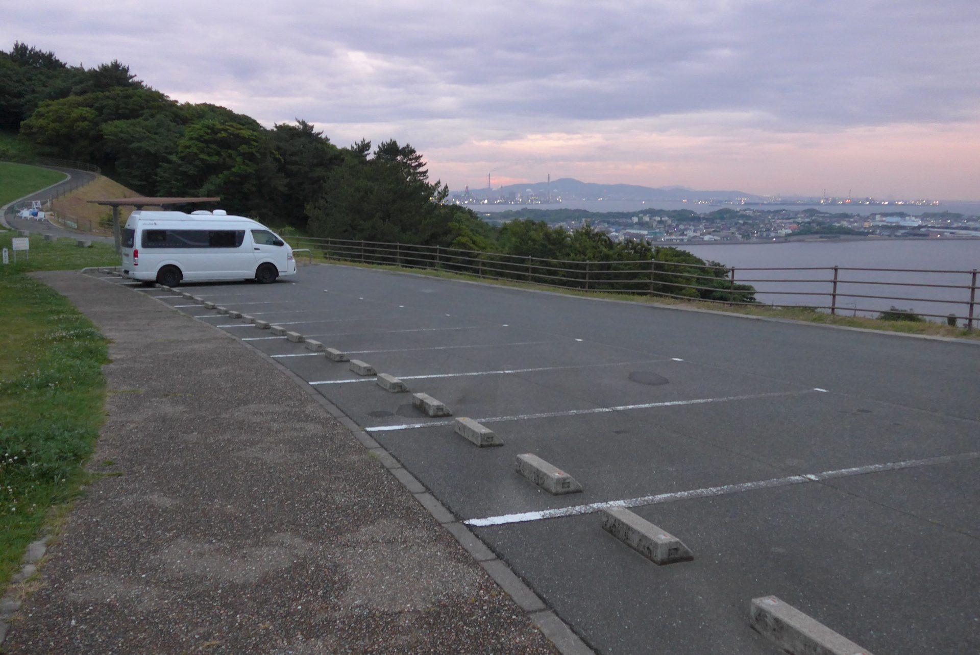 (K)下関市内にある『老の山公園駐車場』の車中泊!無料でおすすめ